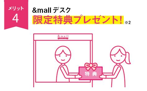 メリット4&mallデスク限定特典プレゼント