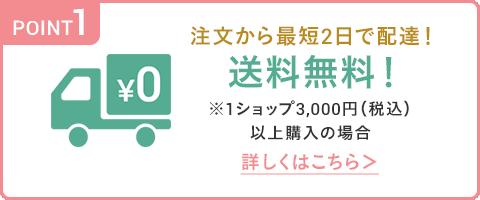 注文から最短2日で配達!送料無料!※1ショップ3,000円(税込)以上購入の場合