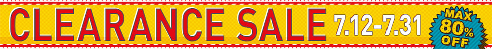CLEARANCE SALE 7.12-7.30 MAX80% OFF