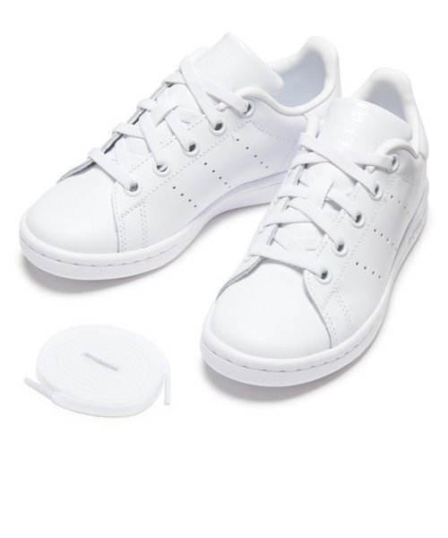 BA8388(17-21) STAN SMITH EL C WHT/WHT/WHT 558786-0001