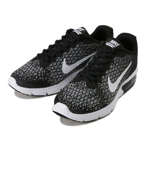 W852465 W AIRMAX SEQUENT 2 *002BK/WHT DGRY 562812-0002