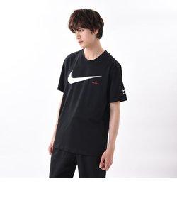 CK2253 M スウッシュ ハイブリッド S/S Tシャツ 010BLACK/WHITE 603218-0001