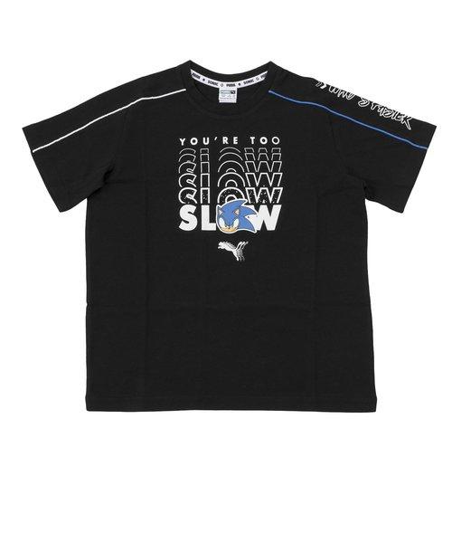 596312 K プーマ X SEGA アドバンス Tシャツ 01BLACK 605451-0001