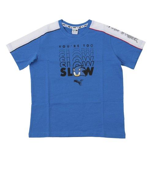 596312 K プーマ X SEGA アドバンス Tシャツ 41PALACE BLUE 605451-0004
