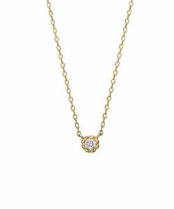 ダイヤモンド一粒ネックレス0. 03ct( YG)