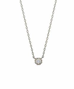 ダイヤモンド一粒ネックレス0. 03ct( WG)
