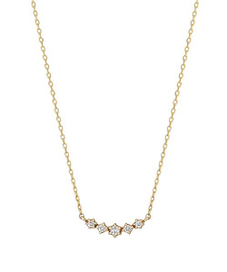 ダイヤモンドキラキラ5セキネックレス( YG)