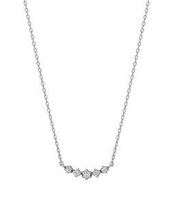ダイヤモンドキラキラ5セキネックレス( WG)
