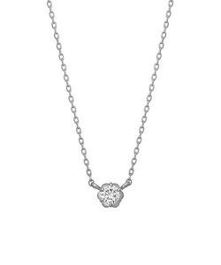 フィオレットセッティング一粒ダイヤモンドネックレス0. 07ct( WG)
