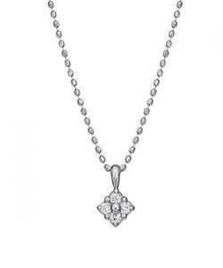 ダイヤモンド4セキフラワーネックレス( WG)