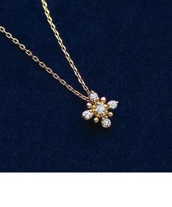 オーナーメダル5石ダイヤモンドネックレス