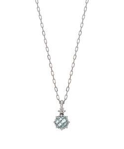 [星座石ジュエリー]K10アクアマリンダイヤモンドネックレス