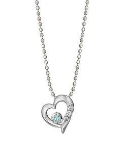 アイスブルーダイヤモンドハートネックレス