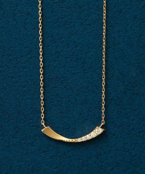K18ダイヤモンドツイストアーチネックレス