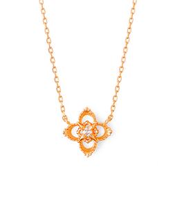 【K10ピンクゴールド】ダイヤモンド ネックレス