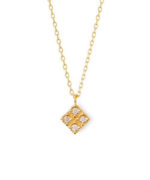 【K10イエローゴールド】ダイヤモンド クラシカル ネックレス