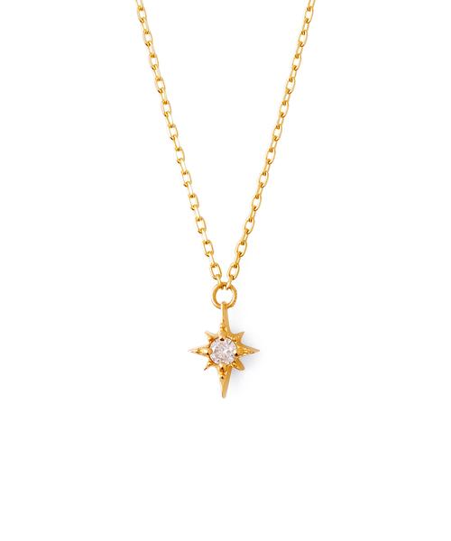 【K10イエローゴールド】ダイヤモンド ネックレス