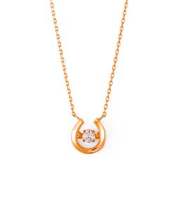 【DancingStone】【K10ピンクゴールド】ダイヤモンド ネックレス