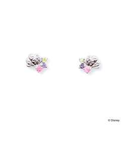 【プリンセスメッセージカード&BOX付き】ディズニープリンセス アリエル /【K10ホワイトゴールド】ピアス