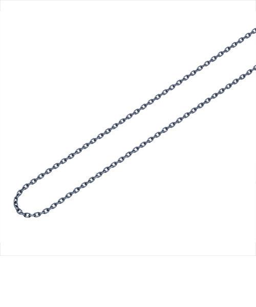【40cm】ブラックロジウムメッキ サージカルステンレス チェーン