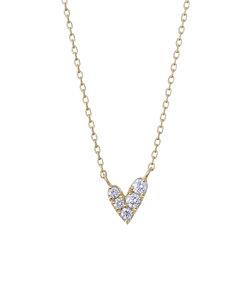 【2018年クリスマス限定】【K10イエローゴールド】ハート ダイヤモンド ネックレス