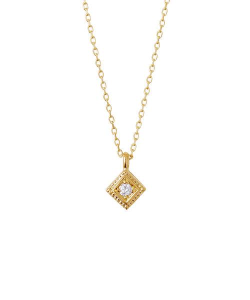 【web限定】【K10イエローゴールド】ダイヤモンドネックレス