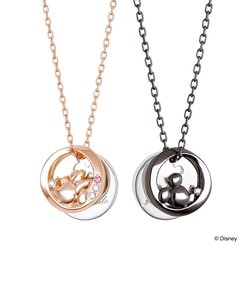 【Disney限定ジュエリーBOXでお届け】ディズニー ミッキー&ミニー / シルバー ペアネックレス