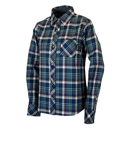 ウィメンズ ウール プレーン ロングスリーブシャツ