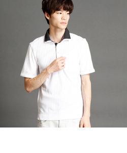 針抜シルケットスムース2枚襟ポロシャツ