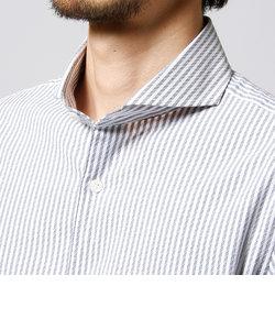 ドビーストライプ柄シャツ
