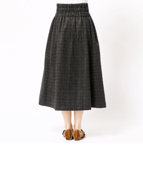 グレンチェックフレアスカート