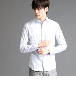 ドビーストレッチイタリアンカラー長袖シャツ