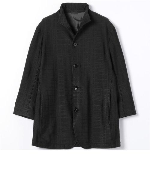 スタンドカラー7分袖ジャケット