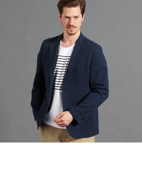 綿麻ドビーテーラードジャケット