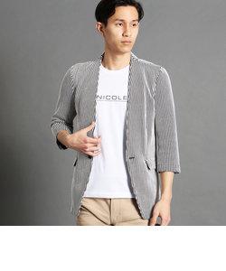 ノーカラー7分袖ジャケット