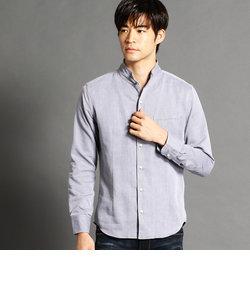 イタリアンカラー長袖シャツ
