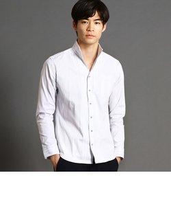 ポケット付きドビー長袖シャツ