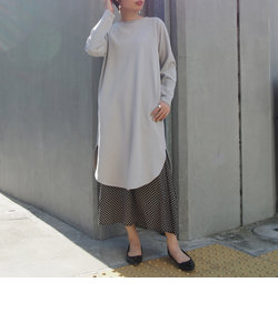 バックリングドットワンピース&柄ギャザースカート