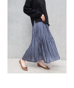 シャイニーサテンスカート