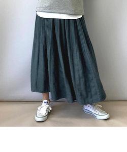 秋の気分を盛り上げてくれるミジンコールプリーツスカート