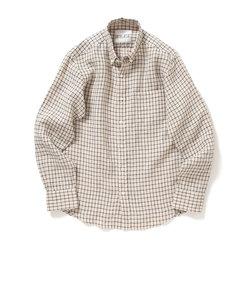 ビーミング by ビームス / ハードマンズリネン チェック ボタンダウンシャツ