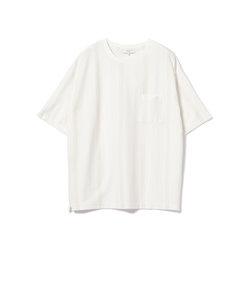 ビーミング by ビームス / ジャカード ストライプ ドロップショルダー Tシャツ