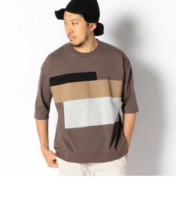 ビーミング by ビームス / ポンチ 切り替え 5分袖Tシャツ
