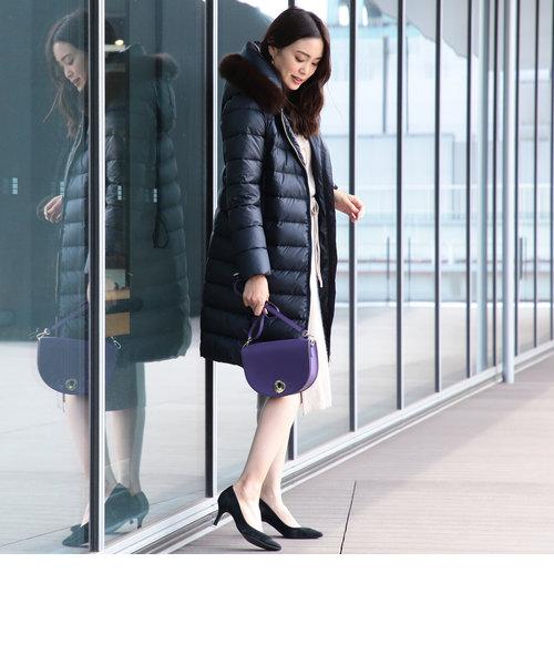 ビーミング by ビームス / 河田フェザー ファー付き ロングダウンコート 18AW-P