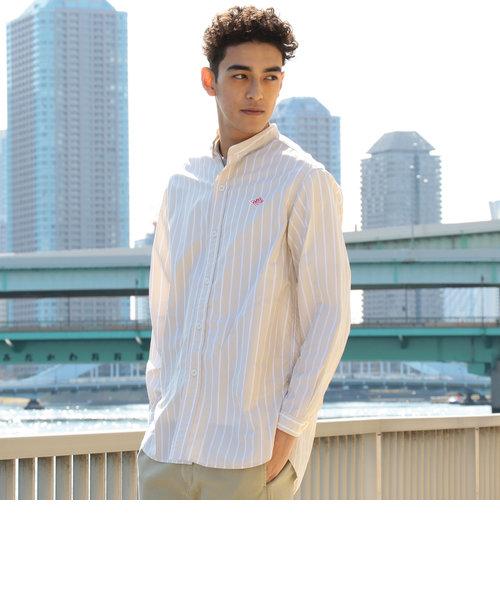 DANTON×ビーミング by ビームス / 別注 ポプリン バンドカラーシャツ