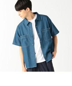 UNIVERSAL OVERALL × B:MING by BEAMS / 別注 デニム オープンカラーシャツ