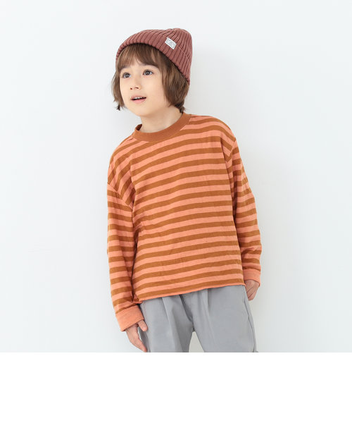 B:MING by BEAMS / ボーダー ダブルフェイス プルオーバー Tシャツ(90~130cm)