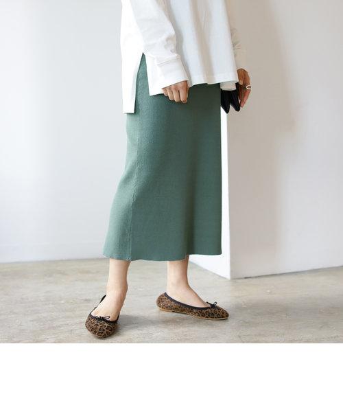 B:MING by BEAMS / リブ Iライン スカート 21SS