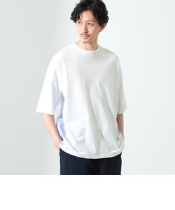 B:MING by BEAMS / 布帛切替 ドロップショルダー クルーネックTシャツ