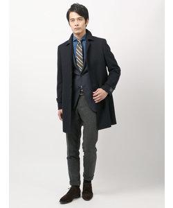 【blazer's bank.com】ヘリンボーン柄ステンカラーコート